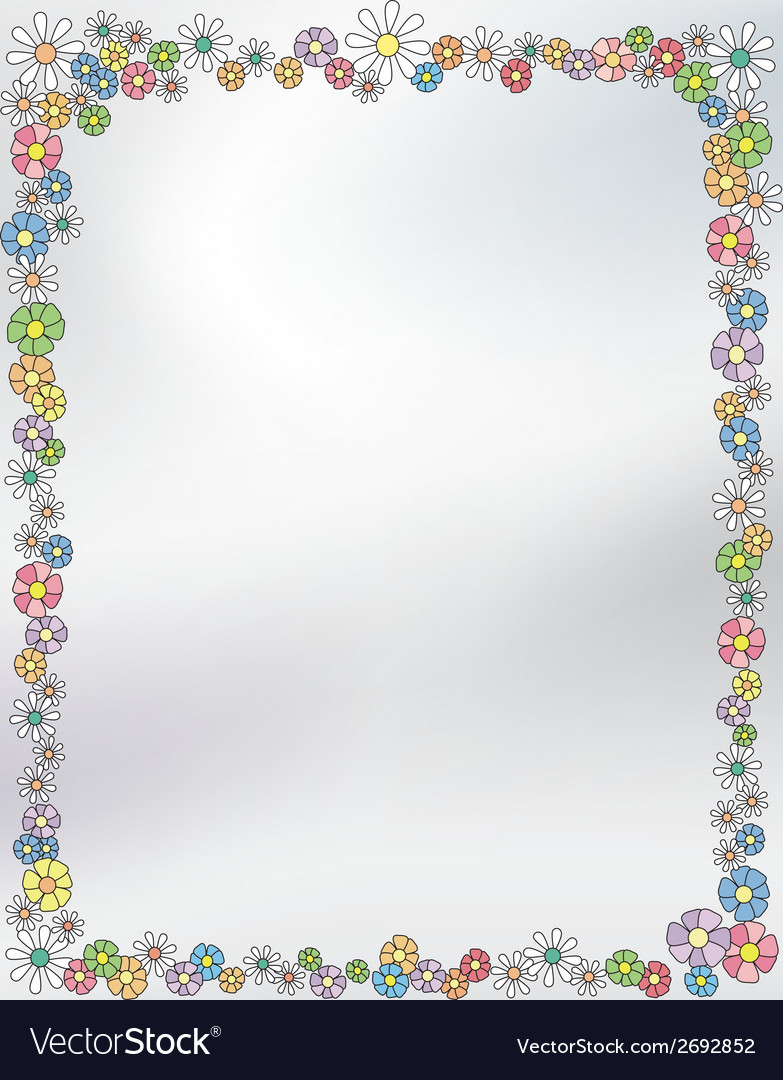 Floral border frame vector | Price: 1 Credit (USD $1)