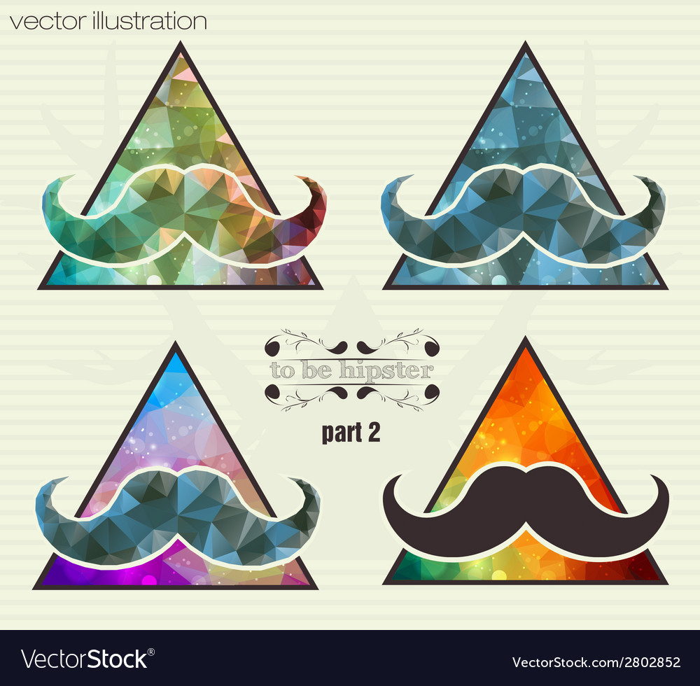 Hipster background with a mustache vector | Price: 1 Credit (USD $1)