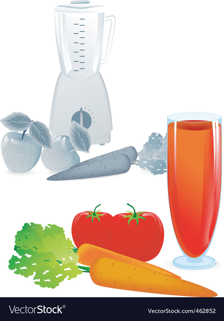 Juice tomato blend vector | Price: 3 Credit (USD $3)