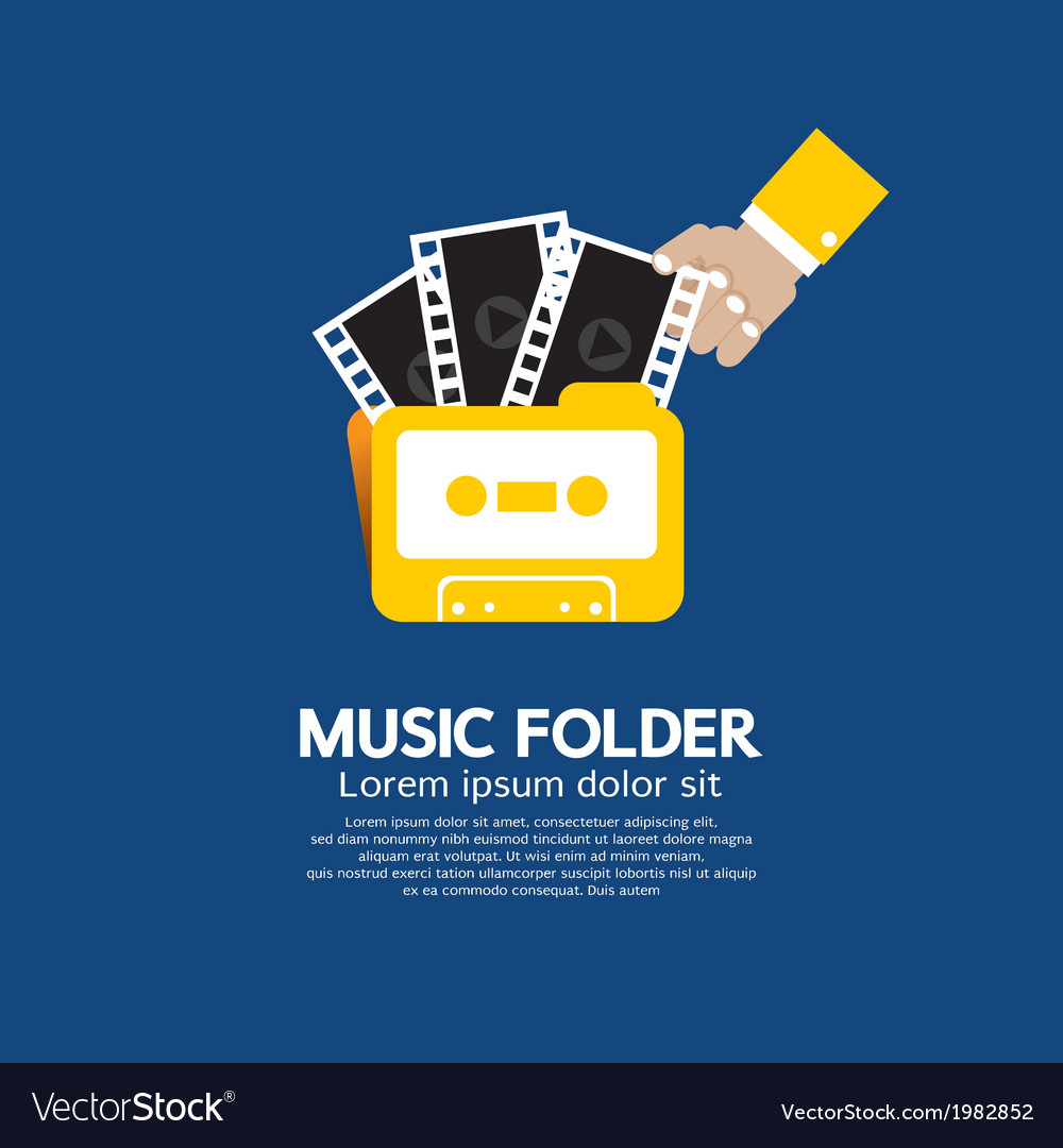 Music folder vector | Price: 1 Credit (USD $1)