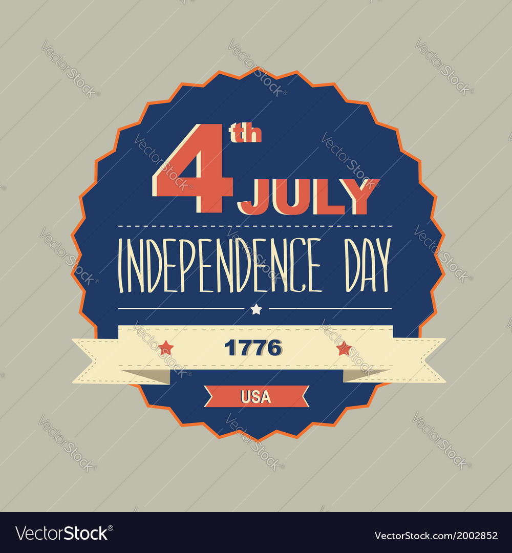 Poster 4 july independence daytypography vector   Price: 1 Credit (USD $1)