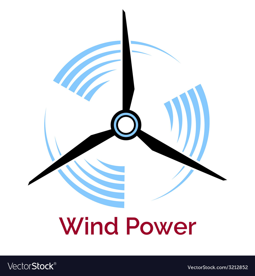 Power making wind turbine company logo vector | Price: 1 Credit (USD $1)
