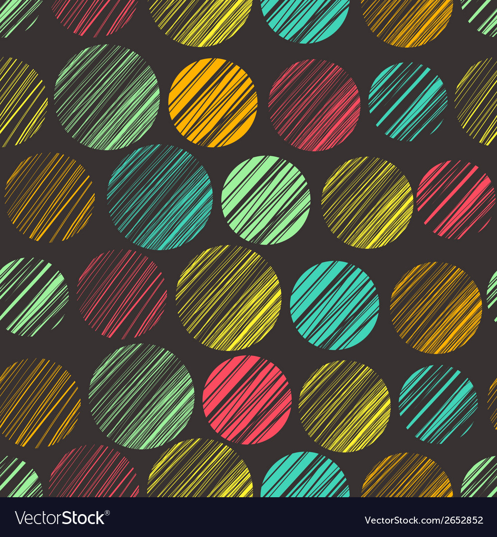 Seamless pattern with hand drawn circle elements vector | Price: 1 Credit (USD $1)
