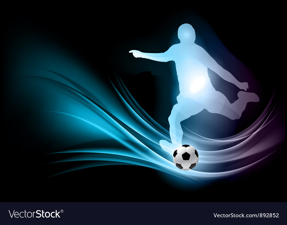 Soccer player abstract vector | Price: 1 Credit (USD $1)