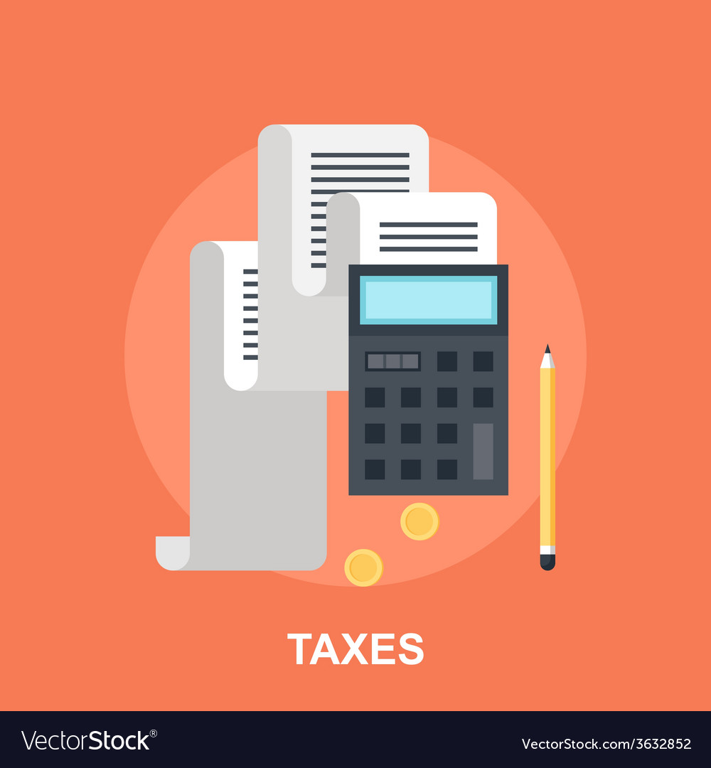 Tax payment vector | Price: 1 Credit (USD $1)