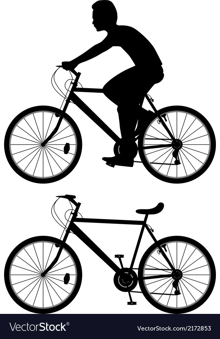 Bicyclist vector | Price: 1 Credit (USD $1)
