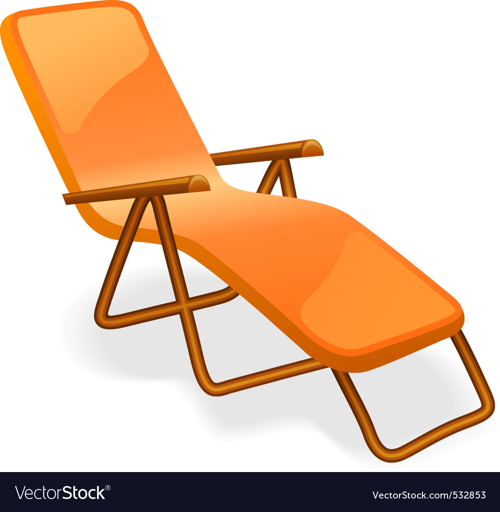 Chaise longue isolated on a white background vector | Price: 1 Credit (USD $1)