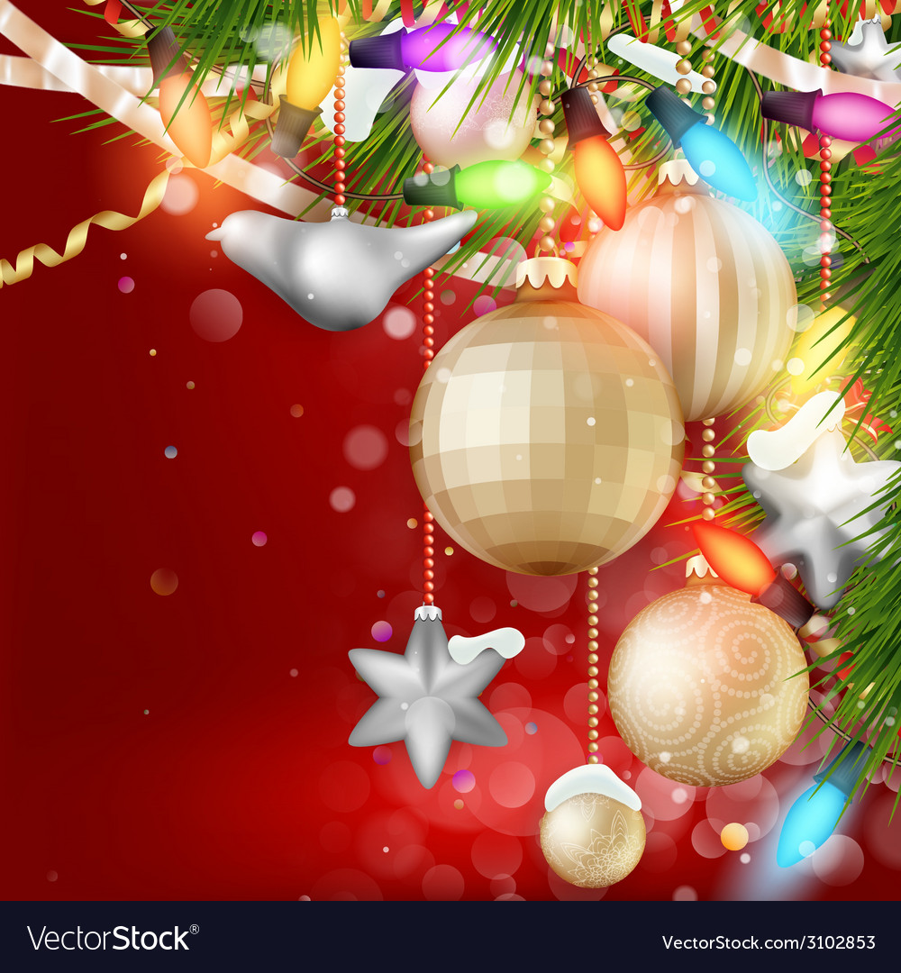 Christmas background with baubles eps 10 vector | Price: 3 Credit (USD $3)