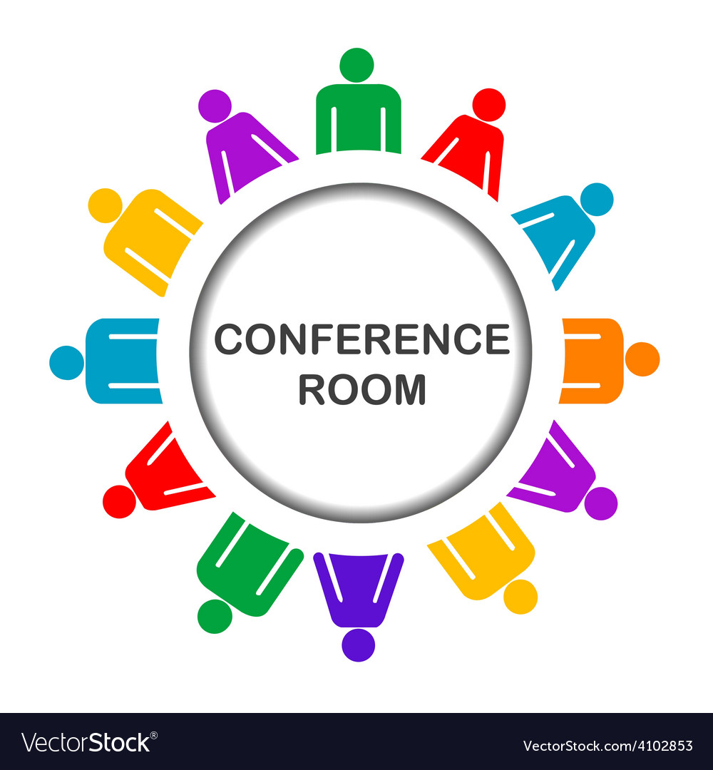 Colorful conference room icon vector | Price: 1 Credit (USD $1)