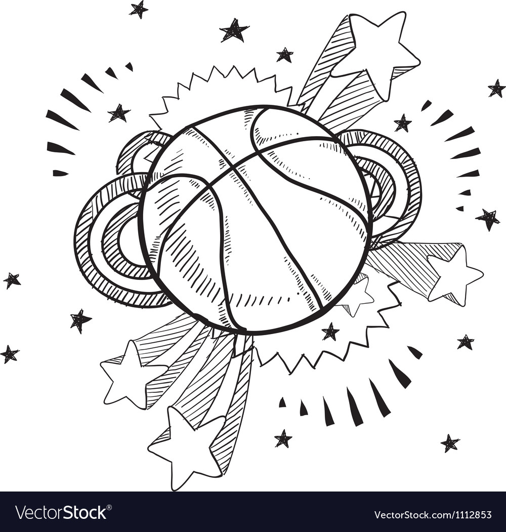 Doodle pop basketball vector | Price: 1 Credit (USD $1)