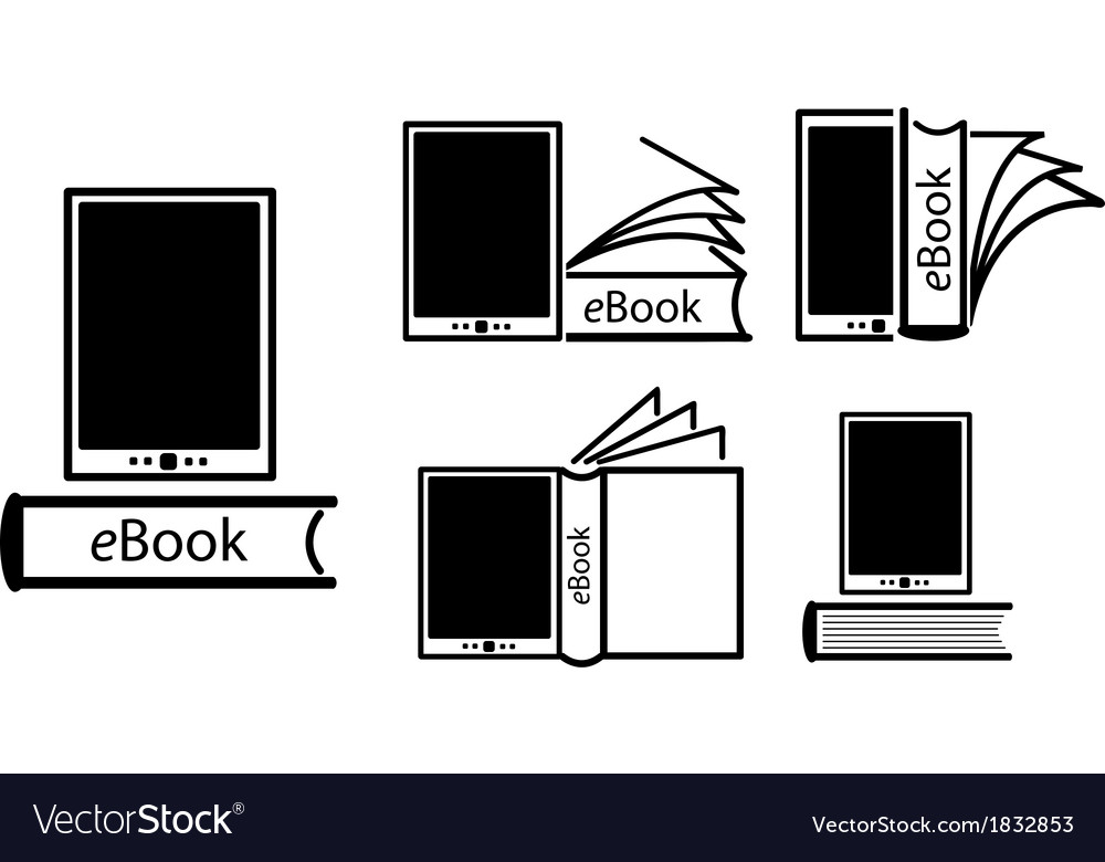 Electronic book concept vector | Price: 1 Credit (USD $1)