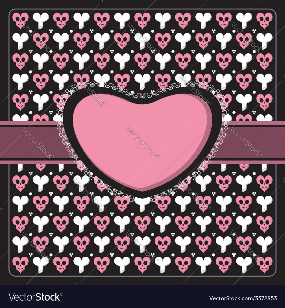 Emo gothic romantic frame vector | Price: 1 Credit (USD $1)