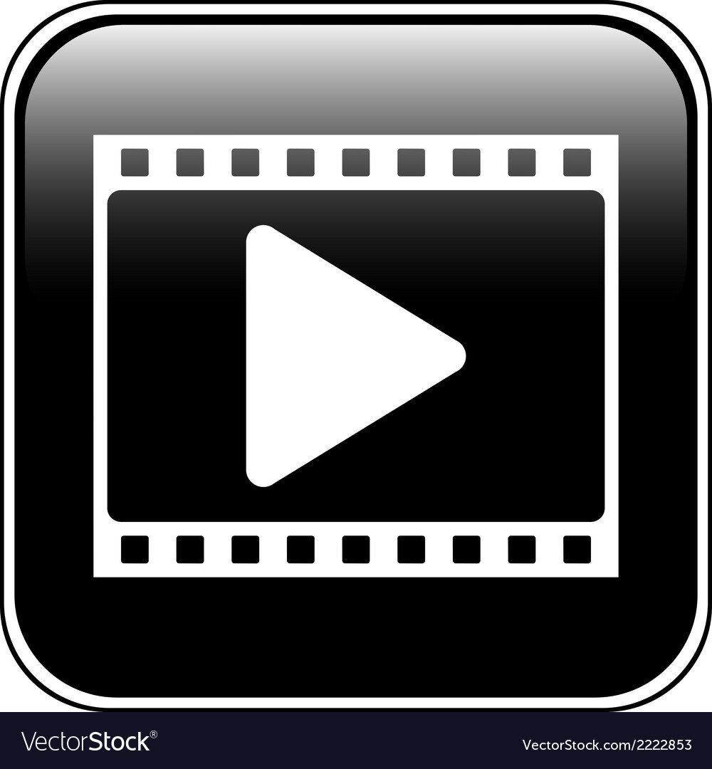 Film strip with play icon vector   Price: 1 Credit (USD $1)