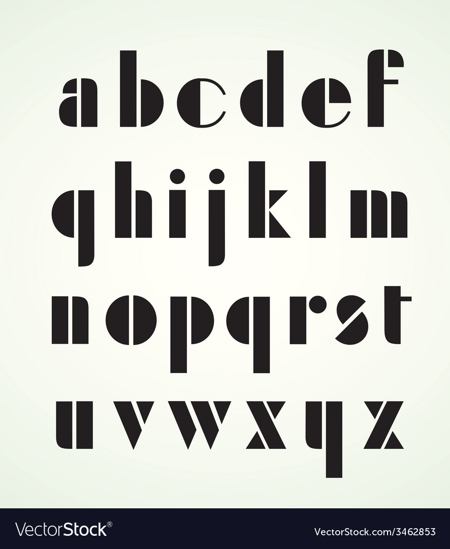 Geometric retro alphabet vector | Price: 1 Credit (USD $1)