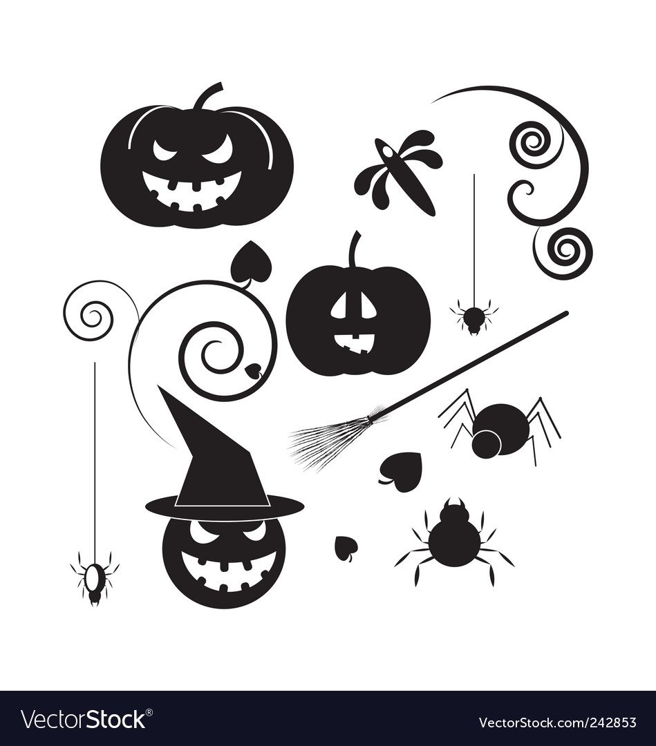 Halloween icons vector | Price: 1 Credit (USD $1)