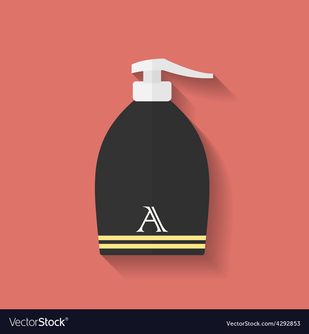 Icon of lotion flat style vector | Price: 1 Credit (USD $1)