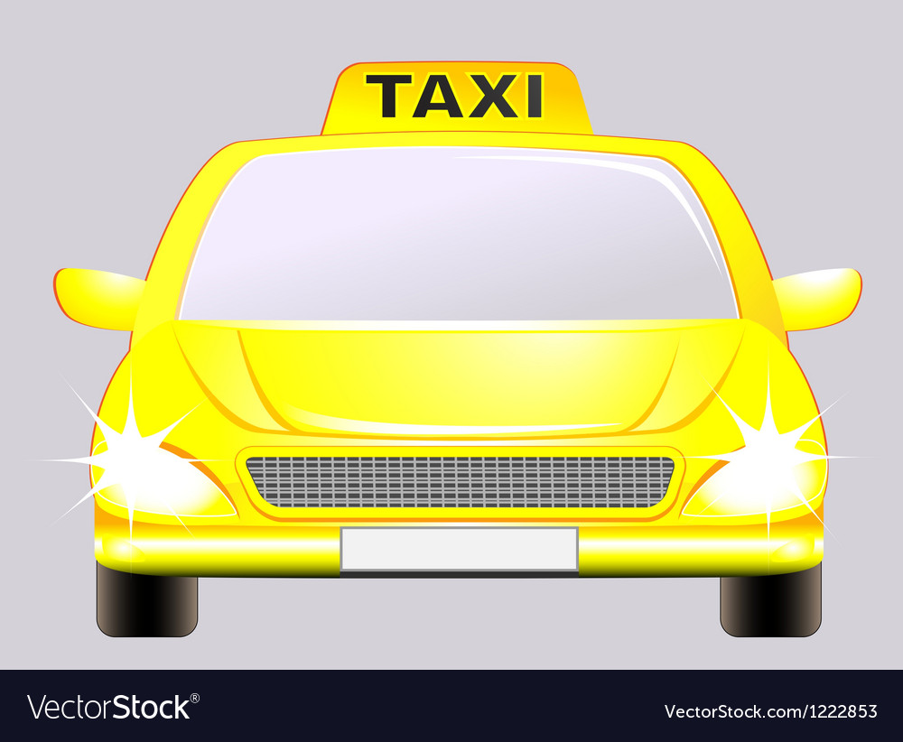 Isolated car with taxi sign vector | Price: 1 Credit (USD $1)