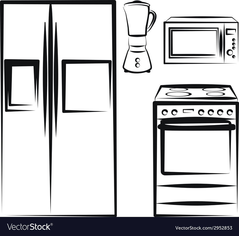 Kitchen electronics vector | Price: 1 Credit (USD $1)