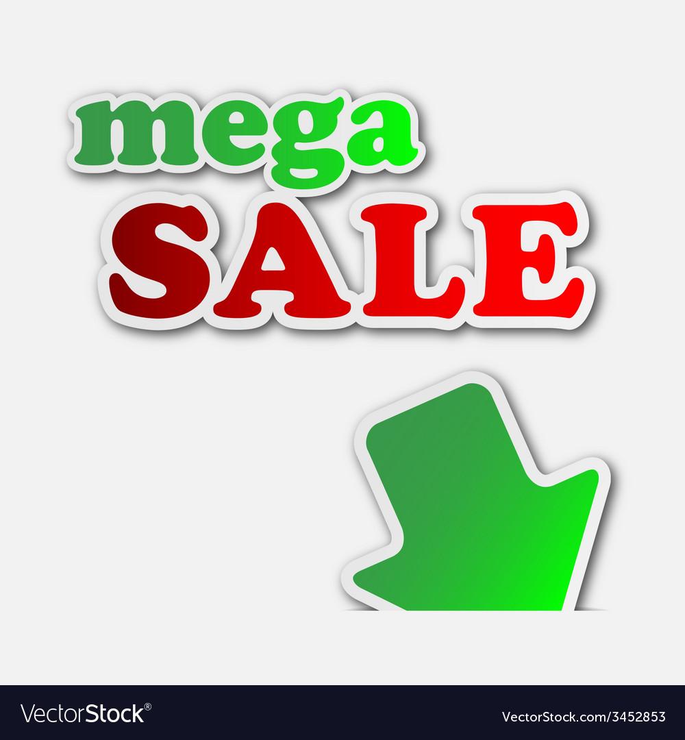 Mega sale - information sign vector | Price: 1 Credit (USD $1)