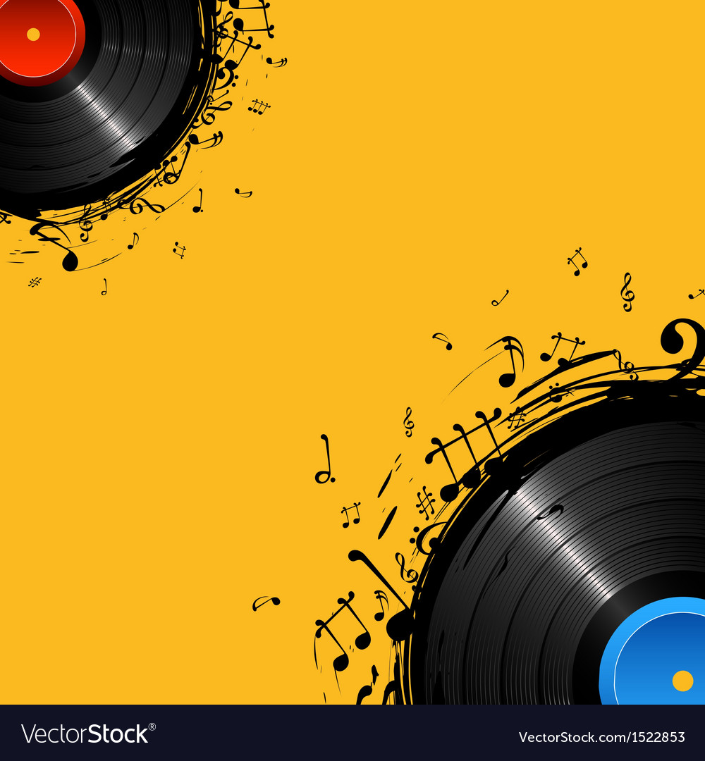 Musical disc vector | Price: 1 Credit (USD $1)