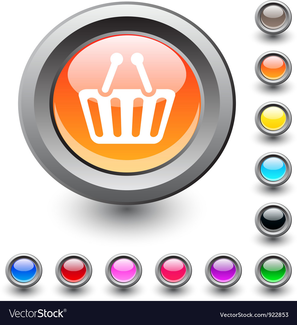 Shopping cart round button vector | Price: 1 Credit (USD $1)