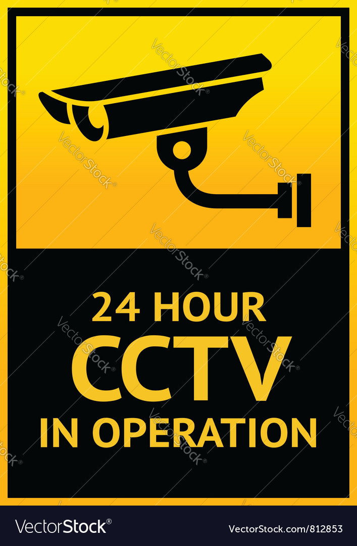 Sign security camera vector | Price: 1 Credit (USD $1)