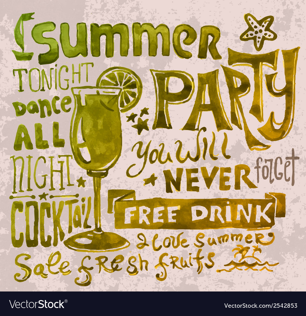 Summer poster typography background vector | Price: 1 Credit (USD $1)