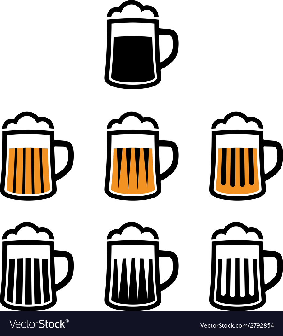 Beer mug symbols vector | Price: 1 Credit (USD $1)