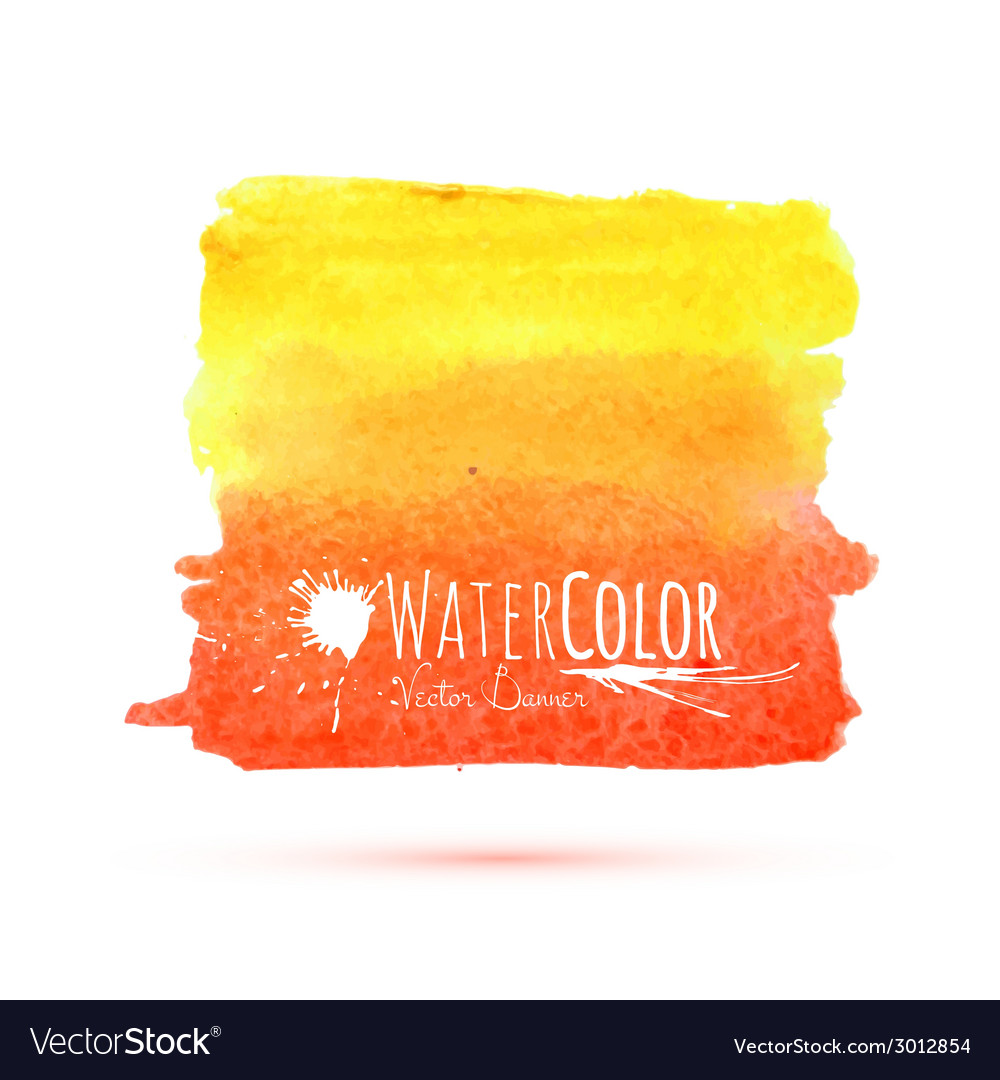 Bright orange banner isolated on white background vector | Price: 1 Credit (USD $1)