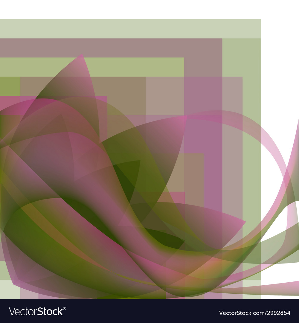 Colorful abstract flower with waves vector | Price: 1 Credit (USD $1)