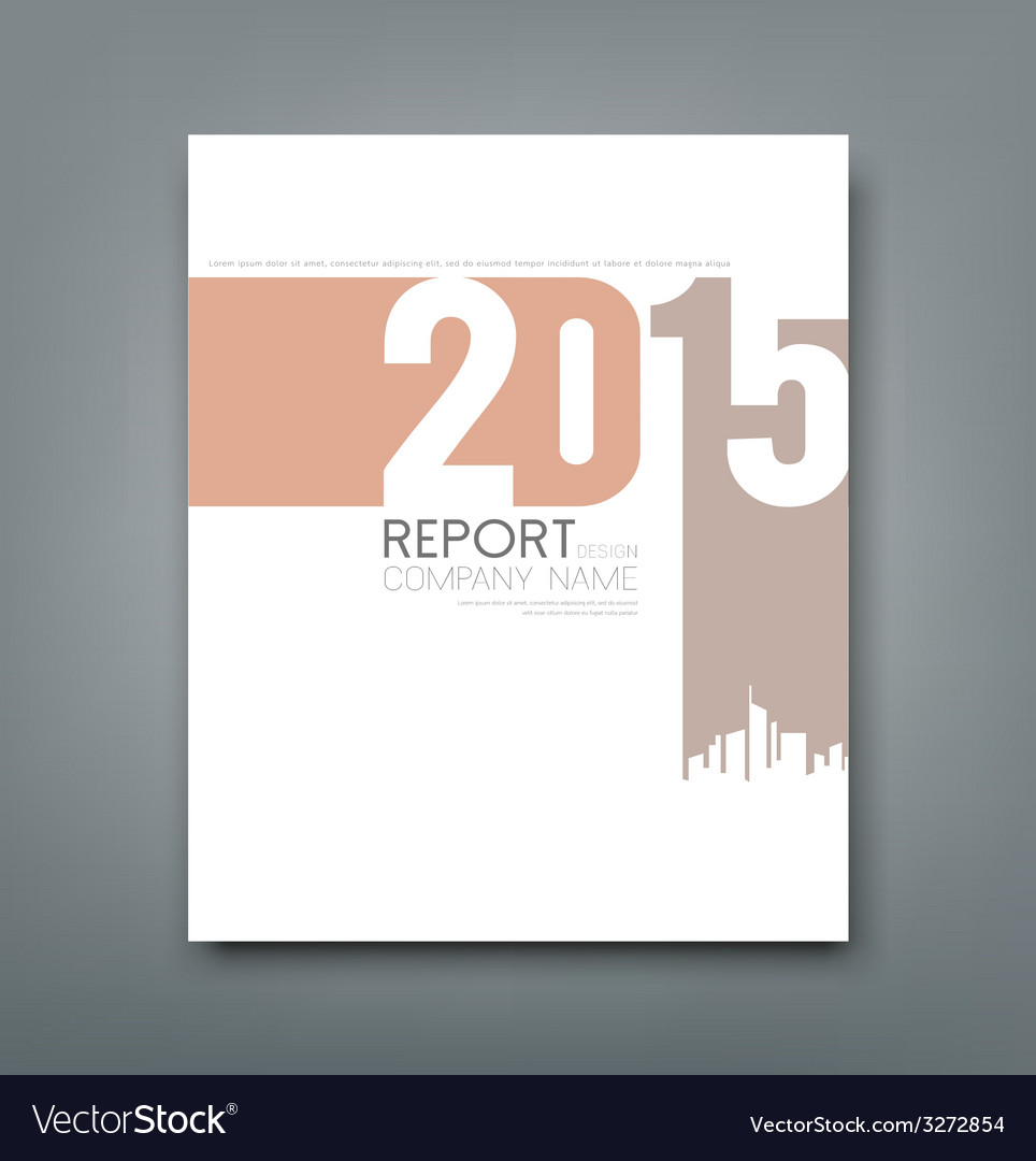 Cover report number 2015 and silhouette building vector | Price: 1 Credit (USD $1)