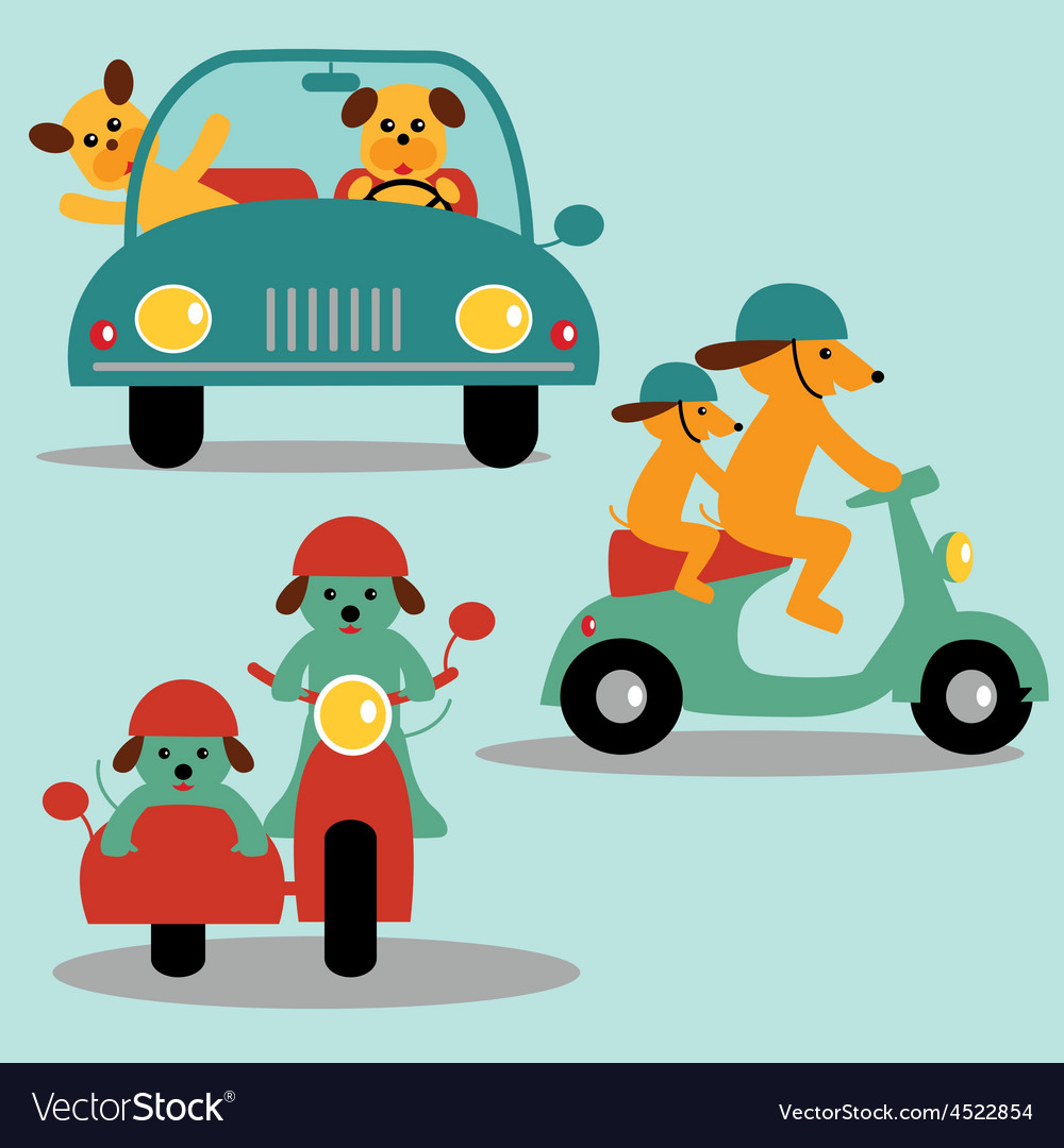 Dogs and vehicles vector   Price: 1 Credit (USD $1)
