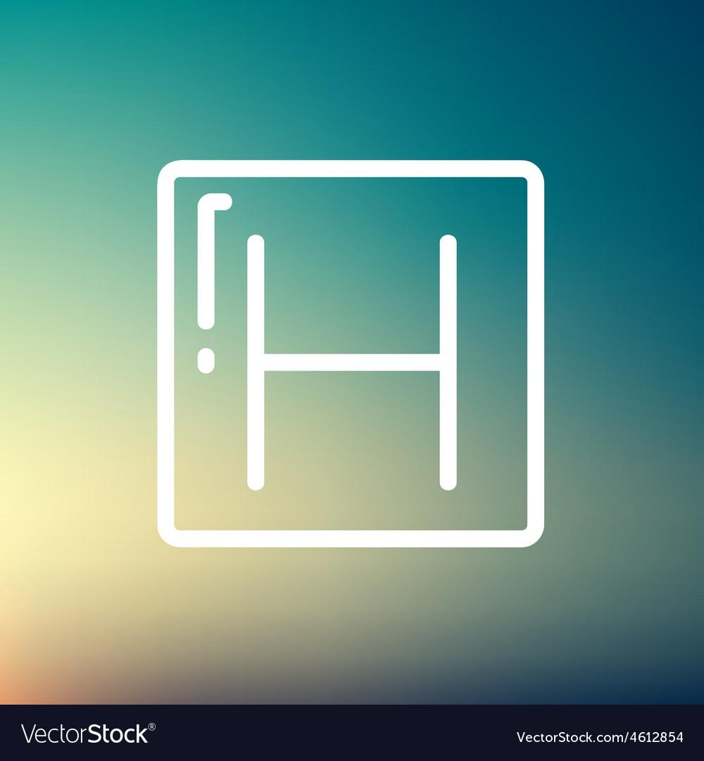 Hospital thin line icon vector | Price: 1 Credit (USD $1)