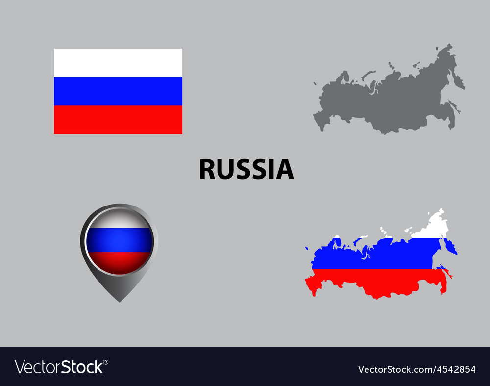 Map of russia and symbol vector | Price: 1 Credit (USD $1)