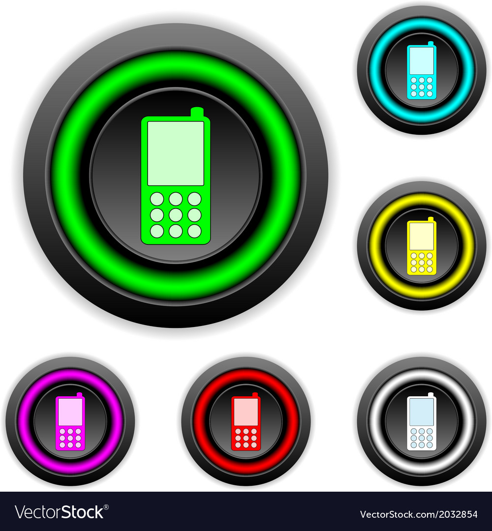Phone buttons set vector | Price: 1 Credit (USD $1)