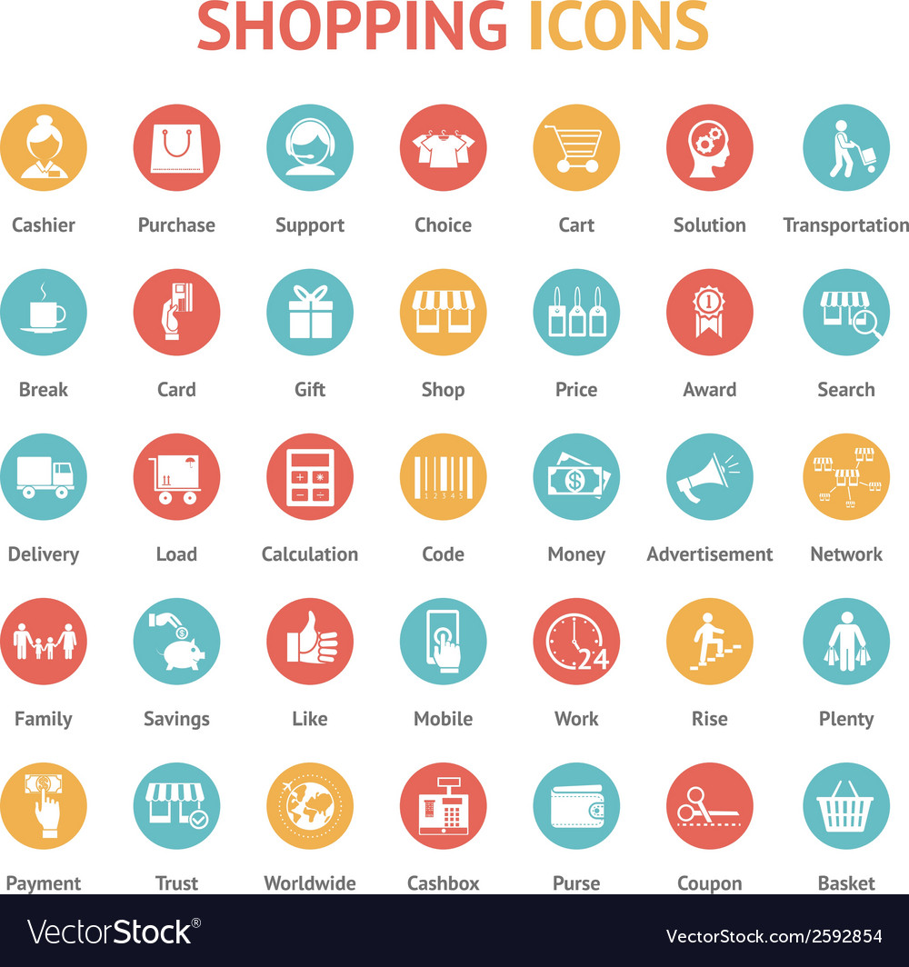 Purchase payment and delivery icons vector | Price: 1 Credit (USD $1)