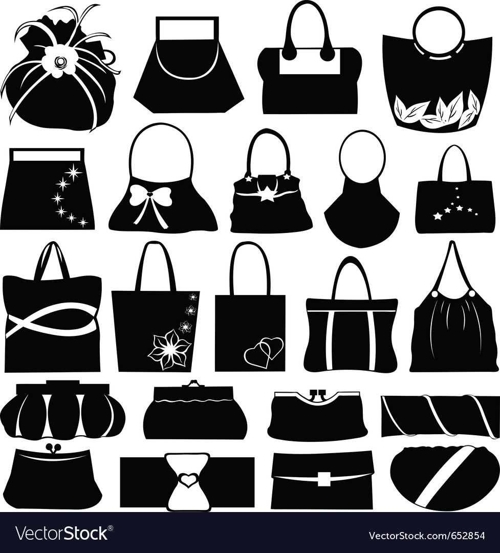 Purse collage vector | Price: 1 Credit (USD $1)