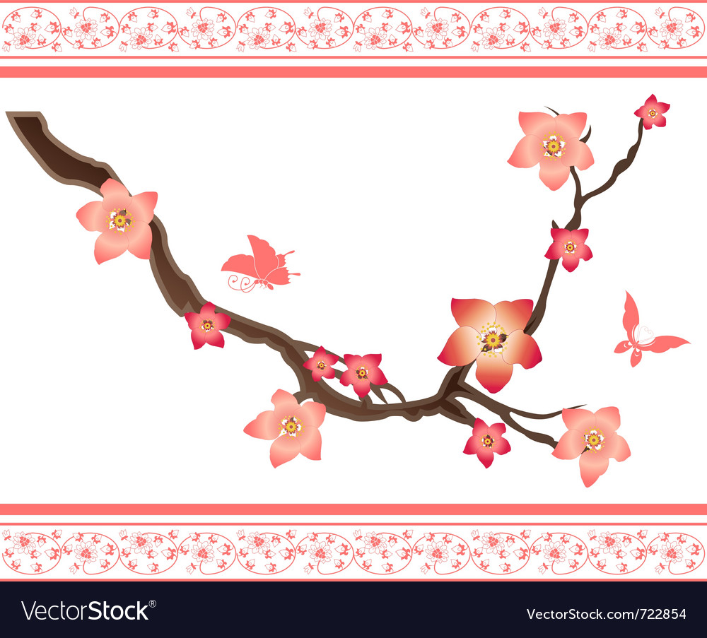 Sakura elements vector | Price: 1 Credit (USD $1)
