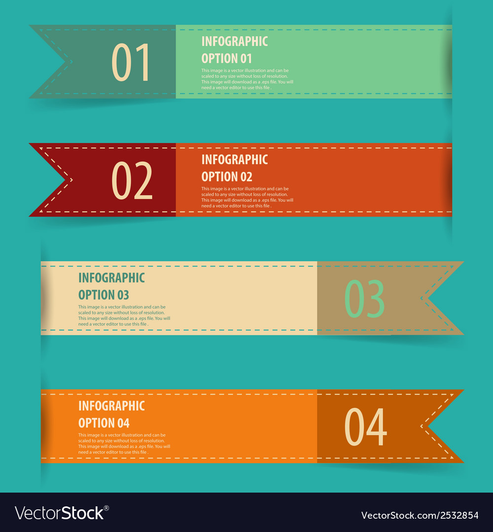 Vintage retro infographics options banner set vector | Price: 1 Credit (USD $1)