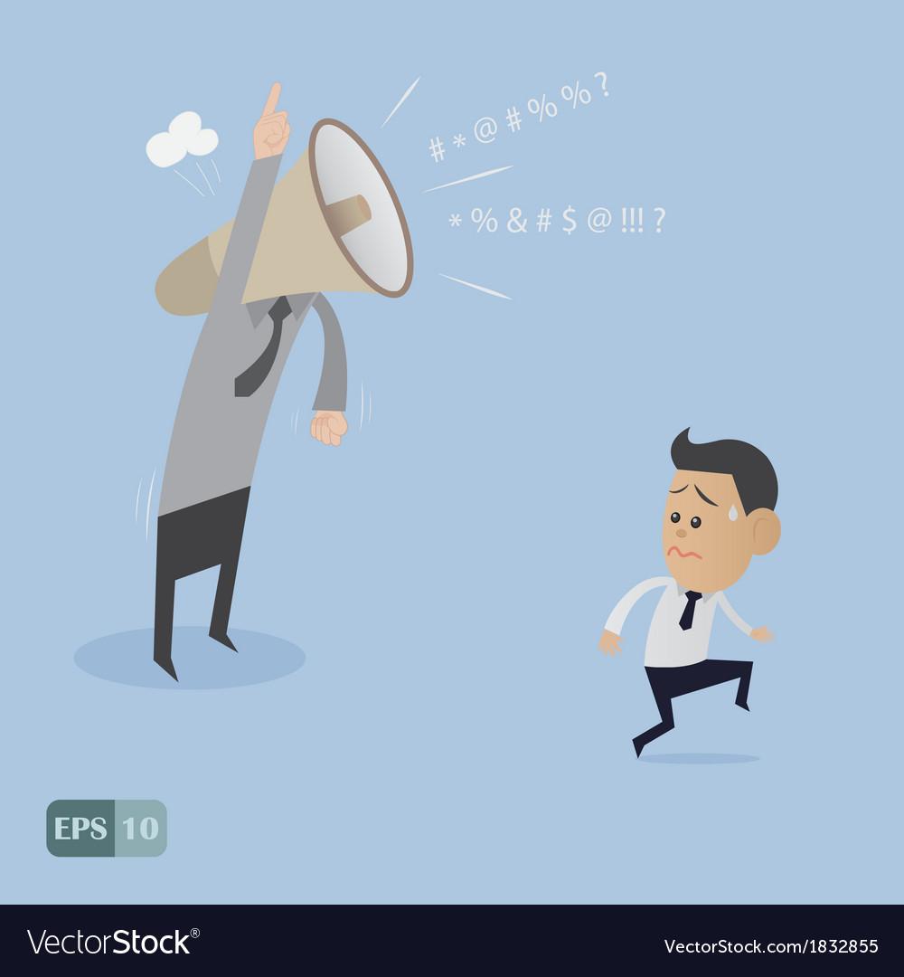 Angry boss upset cartoon vector | Price: 1 Credit (USD $1)