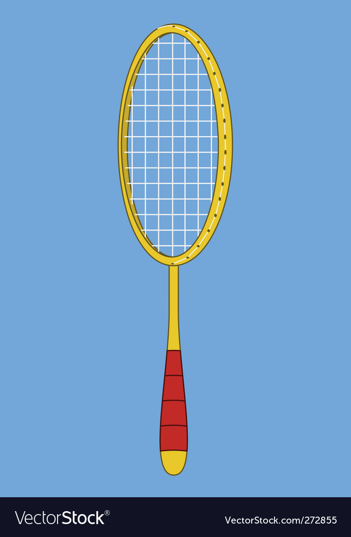 Badminton racket vector | Price: 1 Credit (USD $1)
