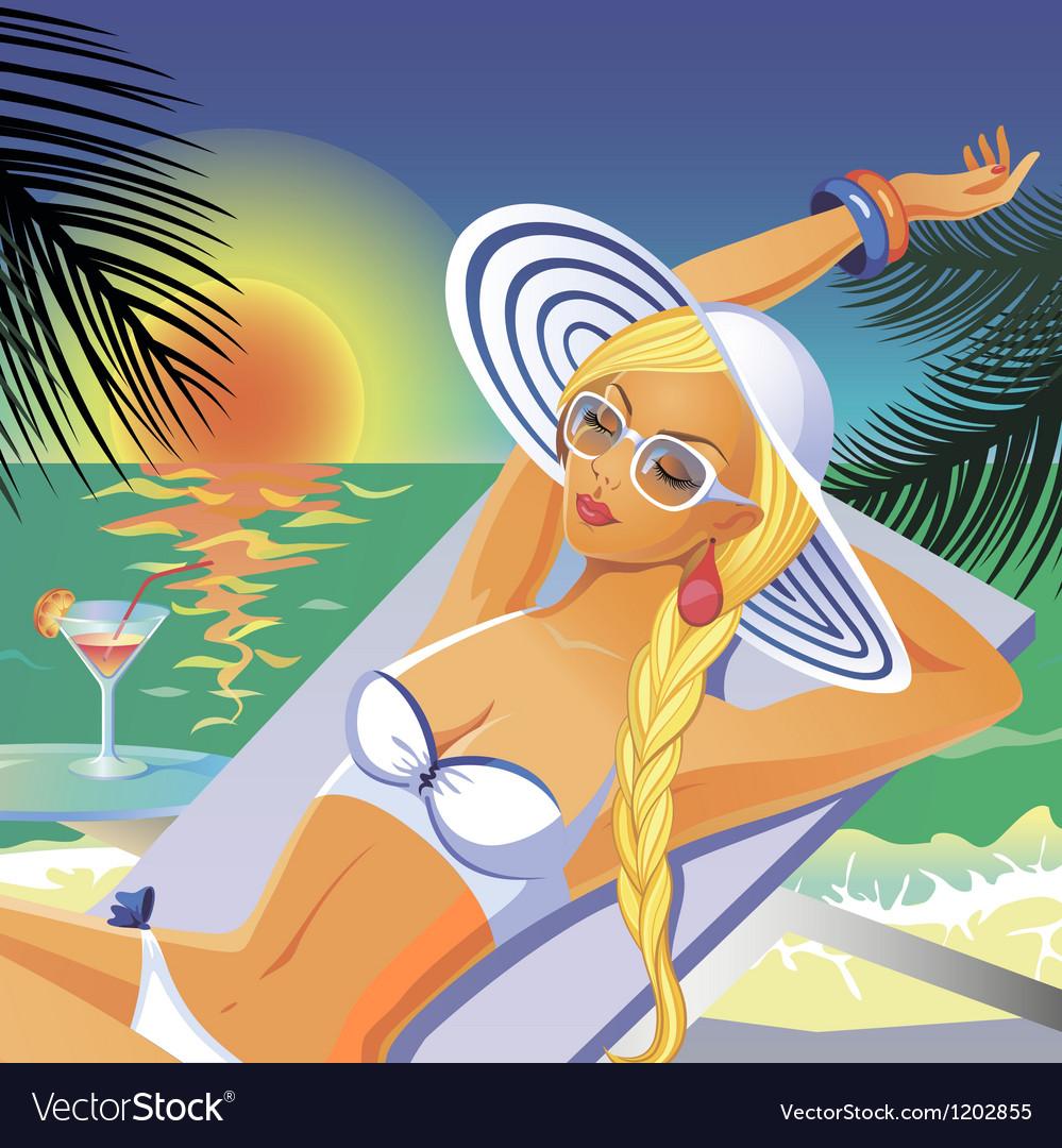Bikini girl vector | Price: 3 Credit (USD $3)