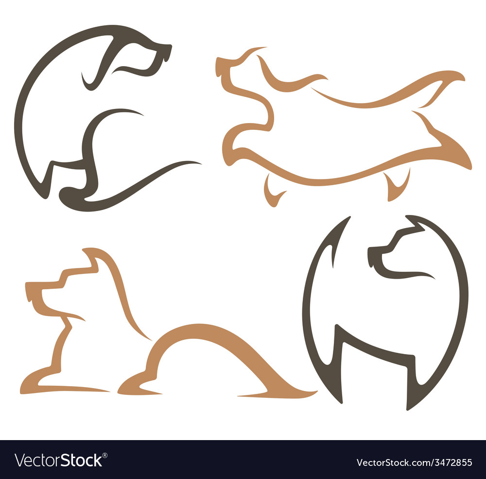 Dog collection vector | Price: 1 Credit (USD $1)
