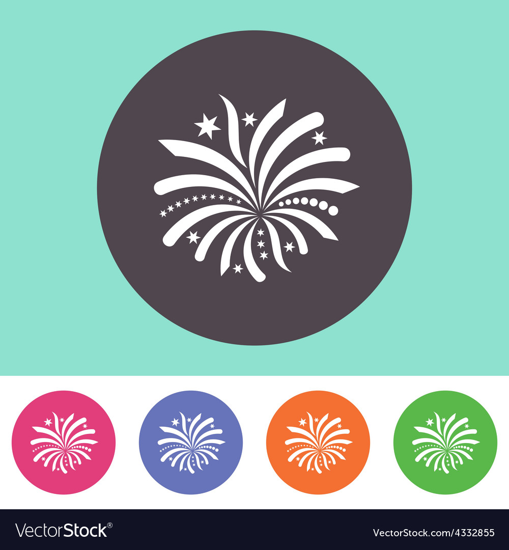Firework icon vector | Price: 1 Credit (USD $1)