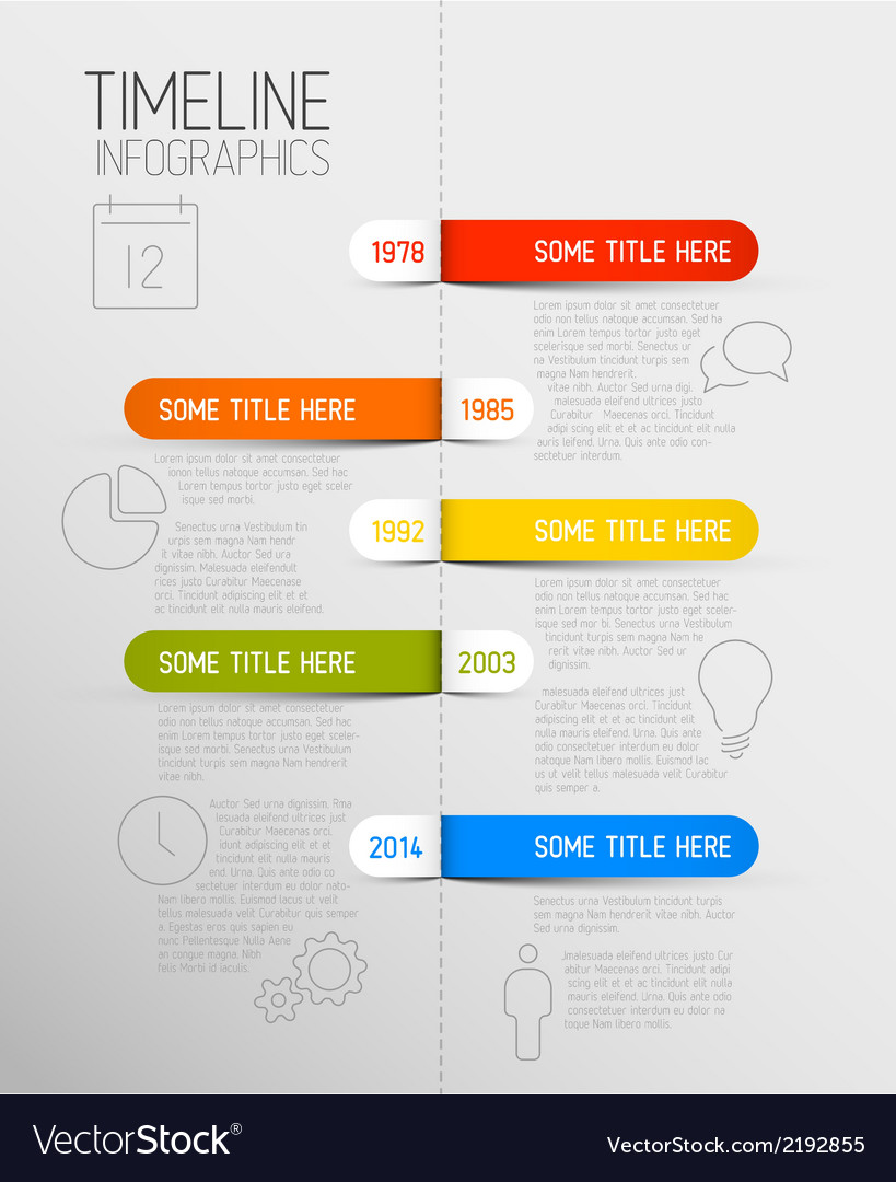 Infographic timeline report template with rounded vector | Price: 1 Credit (USD $1)