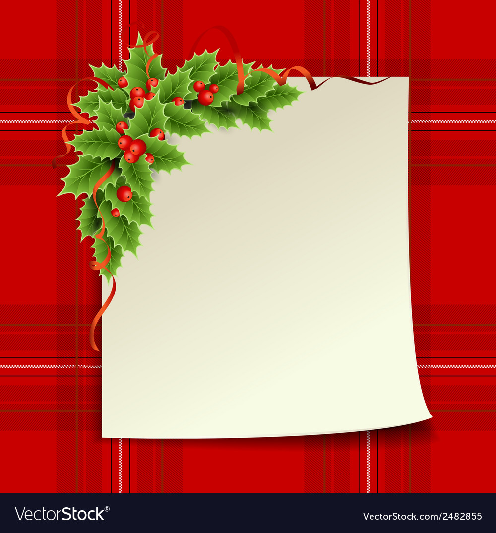 Merry christmas and happy new year christmas card vector | Price: 1 Credit (USD $1)