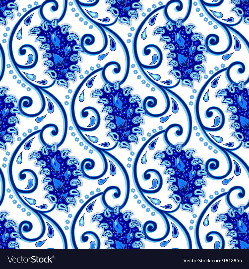 Paisley porcelain vector | Price: 1 Credit (USD $1)