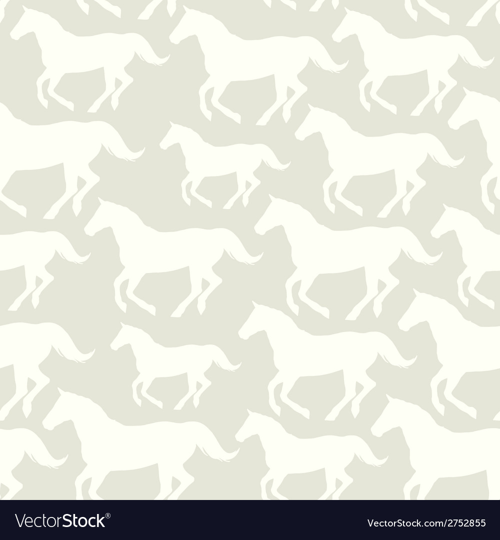 Seamless pattern with stylized horses vector | Price: 1 Credit (USD $1)
