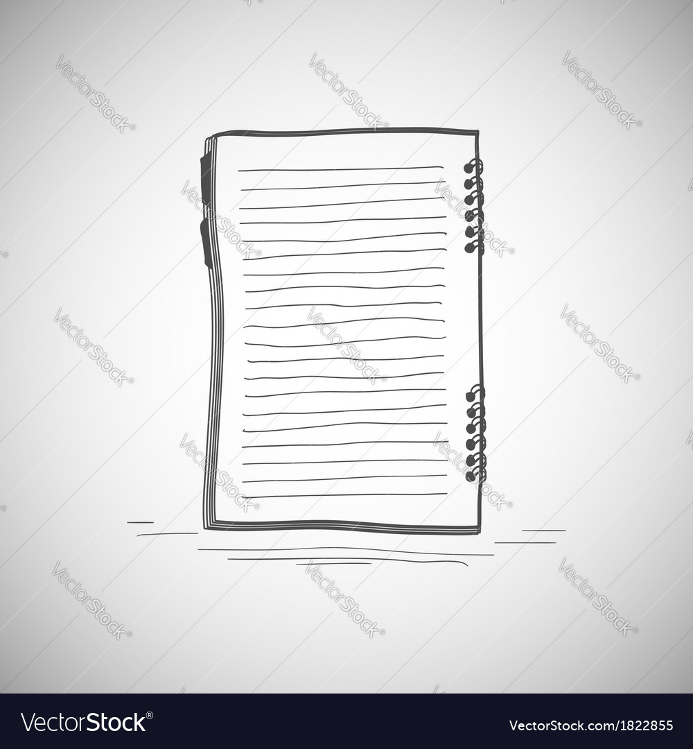 Sketch of notebook vector | Price: 1 Credit (USD $1)