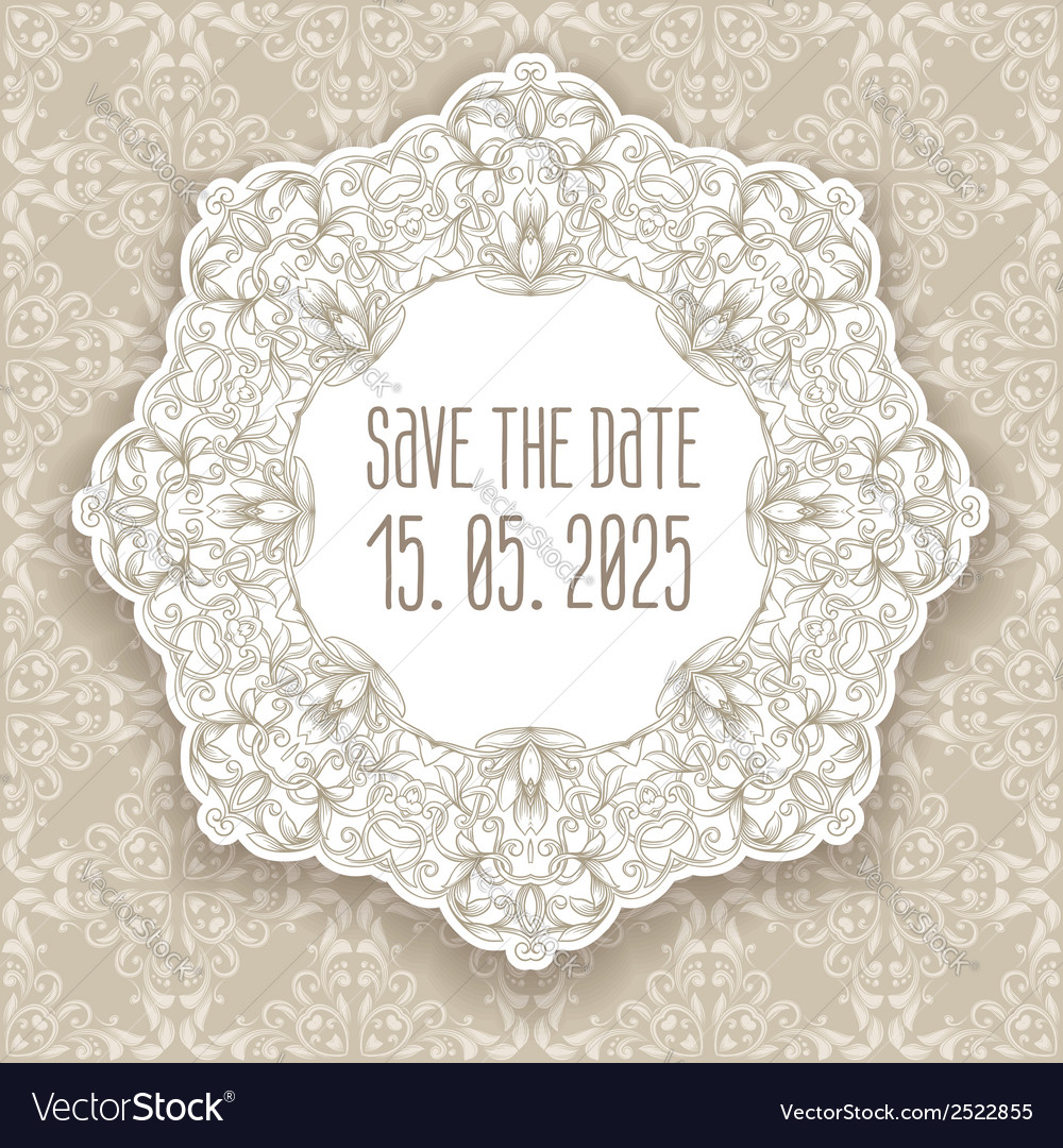 Vintage border frame engraving with retro ornament vector | Price: 1 Credit (USD $1)